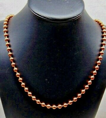 Ball Clasp Necklace (Solid COPPER BALL CHAIN Necklace 6.3mm bead ~ #13 size Various Lengths w/ Clasp)