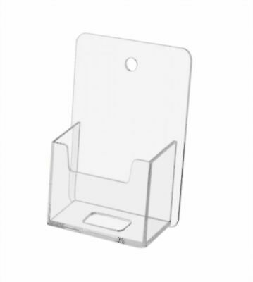 Wall Mountable Hanging Vertical Plastic Business Card Holder - Clear