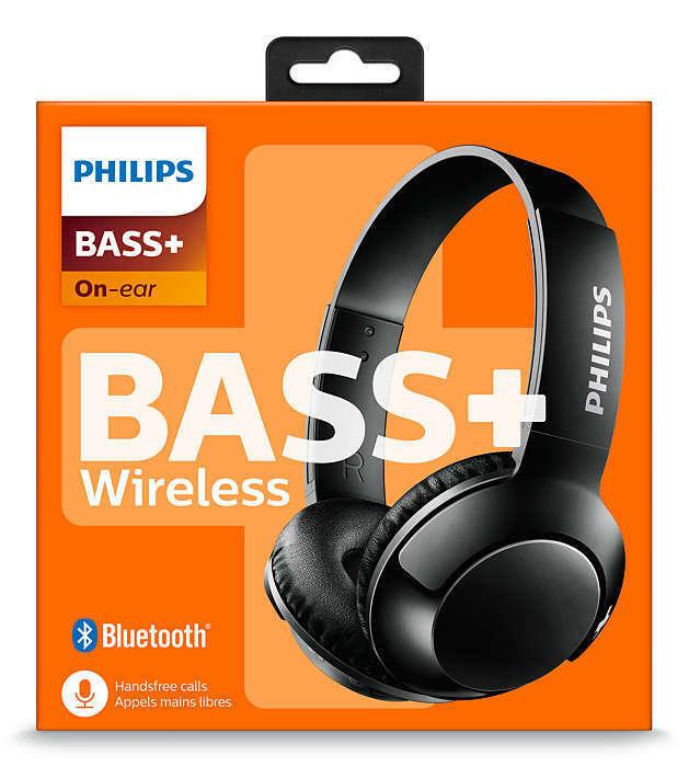 Philips SHB3075 Extra BASS+ Bluetooth Wireless On-Ear Headph