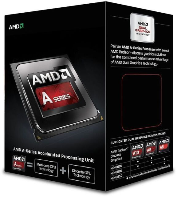 AMD A6-7400K APU 3.9GHZ TURBO 4MB CACHE Radeon R5 Graphics Socket FM2 PLUS