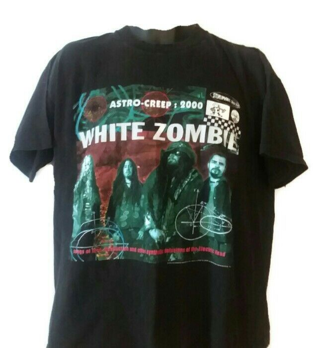 WHITE ZOMBIE Vintage 1995 T Shirt XL  Concert  Astro Creep 2000 Hard Rock Metal