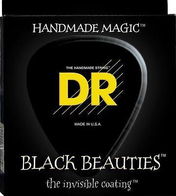 Coated Heavy Gauge (DR BKB-50 Black Beauties Coated BASS Guitar Strings 50-110 heavy gauge)