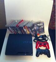 PS3 - 2 controllers - Ni No Kuni - Ghosts - The Last of Us - etc