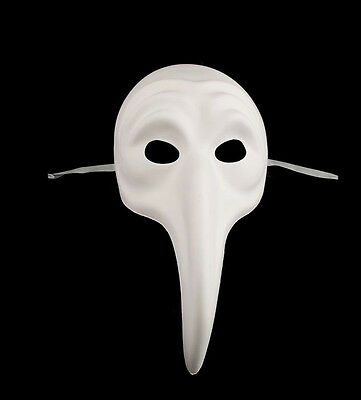 Mask Venice in Paint White Naso 2608602195 pro Authentic Carnival Venetian 390