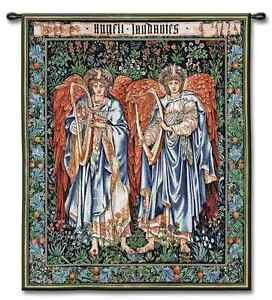 WILLIAM MORRIS RELIGIOUS STAINED GLASS ANGELS ART TAPESTRY WALL HANGING