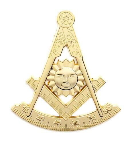 Masonic Past Master car emblem 3 inch gold #CD25