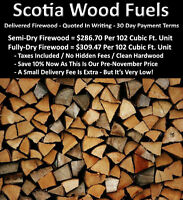*DELIVERED FIREWOOD - *QUOTED IN WRITING - *30 DAY PAYMENT TERMS