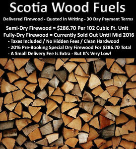 *FIREWOOD - *GET IT QUOTED IN WRITING - *30 DAY PAYMENT TERMS