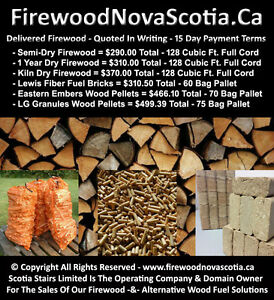 *FULL CORD FIREWOOD - *BBB A+ RATED - *15 DAY PAYMENT TERMS