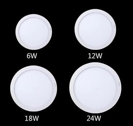 LED Lights 6W/12W/18W/24W LED Surface Mount Panel Light Round Ceiling Downlight Cool White