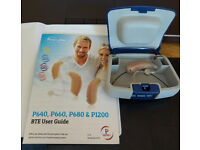 hearing aid P640S Digital Micro Behind The Ear Hearing Aid Beige Right