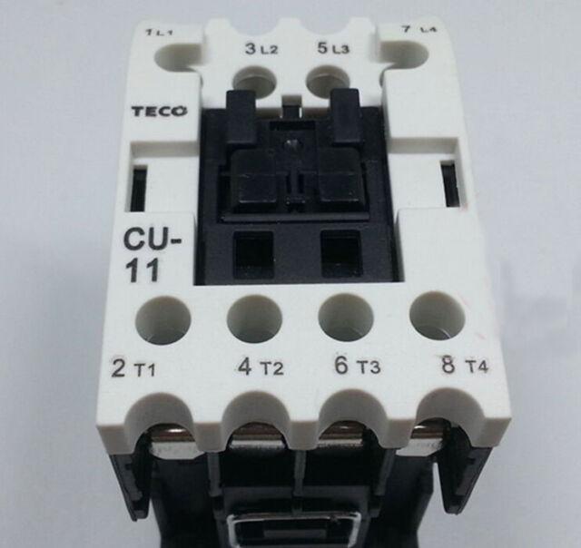 1PCS New TECO AC Contactor CU-11 4A 110VAC