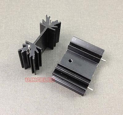 50pcs Heatsinks To-220 Heat Sinks For Power Mosfet 35x25x12mm