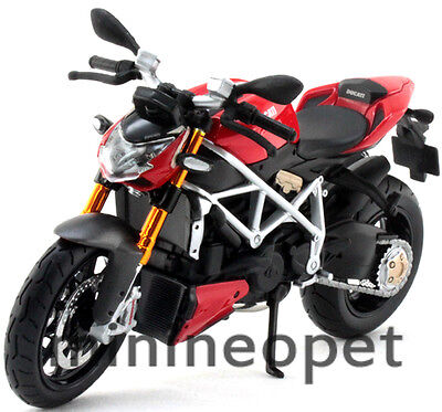 MAISTO 31197 DUCATI MOD STREETFIGHTER S BIKE MOTORCYCLE 1/12 BLACK RED