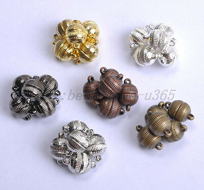 10Sets Silver/Gold Plated Stripe Jewelry Powerful Magnetic Clasps 6MM 8MM 10MM 8 Mm Magnetic Clasps