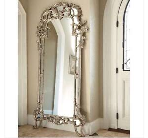 MIRROR FLOOR FILIGREE SILVER GOLD VEIL ORNATE