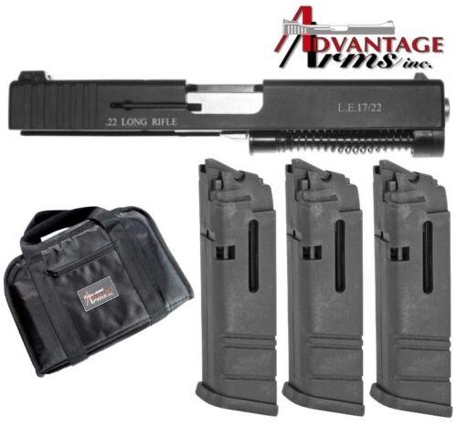 Advantage Arms for Gen 3 Glock 17 22 31 34 35 Conversion Kit w/ 3 Magazines