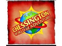 4 x Chessington World Adventurous Tickets Thursday 27th September