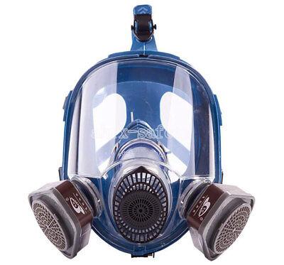 Silica Gel Full Face Anti Dust Respirator Dual Cartridge Gas Mask St-m80-1