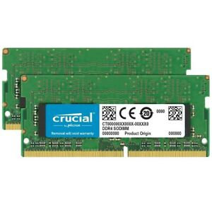Crucial 32GB Kit (16GBx2) DDR4 2400 MT/S 260-Pin for Mac
