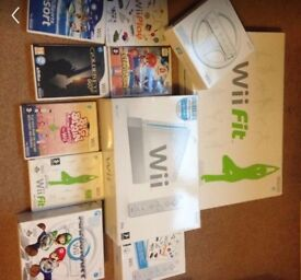Nintendo wii with wii fit and lots of accessories