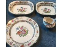 Stunning 7 Piece Chinese Rose by Spode.