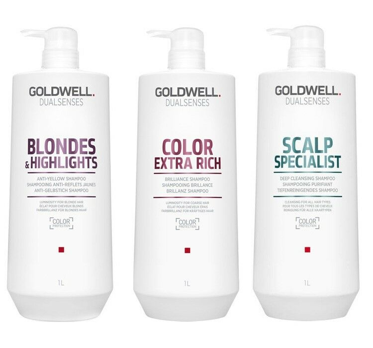 GOLDWELL DUALSENSES ULTRA VOLUME COLOR RICH SMOOTH BLONDES TWIST SHAMPOO 1000 ML