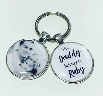 Personalised Photo Keyring Daddy Grandad Uncle Hubby Boyfriend Dad