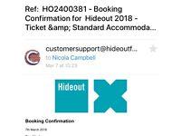 HIDEOUT TICKETS CROATIA INC ACCOMODATION X 4 FOR SALE