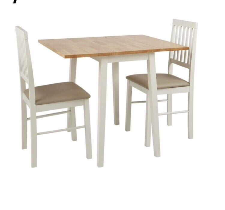 Argos Home Kendall Solid Wood Drop Leaf Table 2 Chairs Two Tone In Kings Heath West Midlands Gumtree