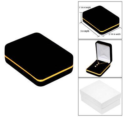 Black Velvet Jewelry Gift Box Earring Pendant Gift Box Necklace Gift Box Jewelry