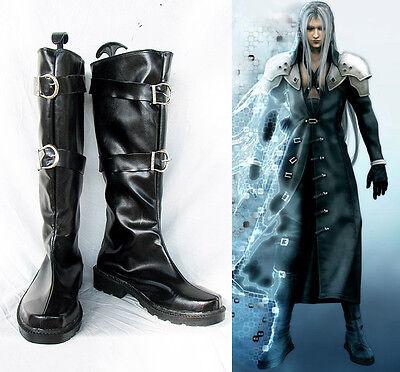 Final Fantasy VII FF 7 Sephiroth Cosplay Kostüme Schuhe Shoes Stiefel Boots neu