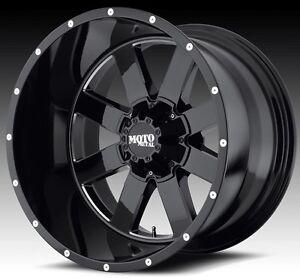Moto Metal 962 18x10 Gloss Black Wheels Ford Chevy Dodge Jeep