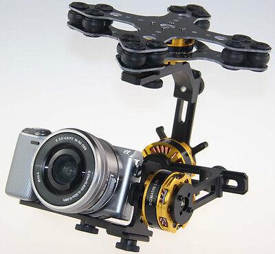 Gimbal Brushless 3 Axis Kit 4108 Motor Alexmos Controller Sony Nex Ildc Camera
