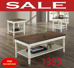 393W-31, wood coffee tables, 2 end lamp tables