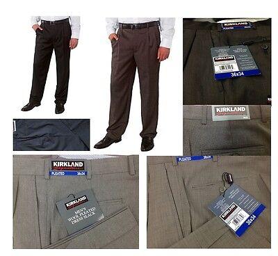 Kirkland Signature  Men S Wool Pleated Dress Pant   Free Socks  With Min Order