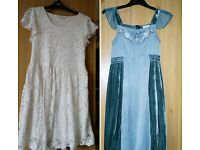 2 girls dresses - age 12 years and over