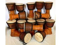 AFRICAN DJEMBE DRUMS WHOLESALES, AUTHENTIC AFRICA DJEMBES 4 PROFESSIONAL / EDUCATIONAL USE, £30-£150
