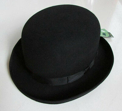 100% Woolfelt  Derby Hat Bowler Hats Black Men's  Woman's Unisex  - Derby Hats For Men Cheap