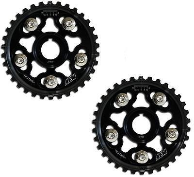 Aem Tru-time Adjustable Cam Gears Prelude H22a H23a1 H22a4 F20b F22a1 Black Pair