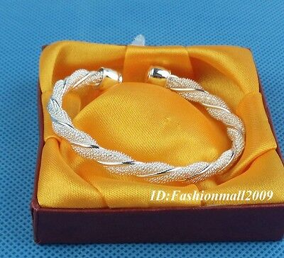 New! S80 silver kinking cuff bangle bracelet  on Rummage