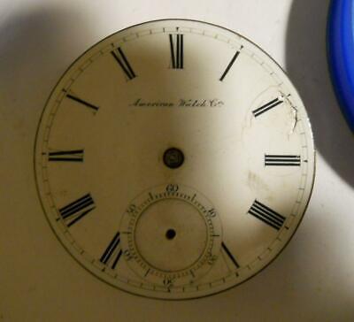 18s Waltham PS Bartlett 11j Key Wind Pocket Watch Movement, Model 1857 for Parts