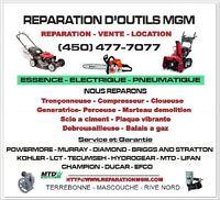Reparation de  tondeuse - tracteur - souffleuse