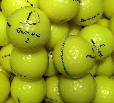 50 gelbe Taylor Made Golfbälle AAA/AA