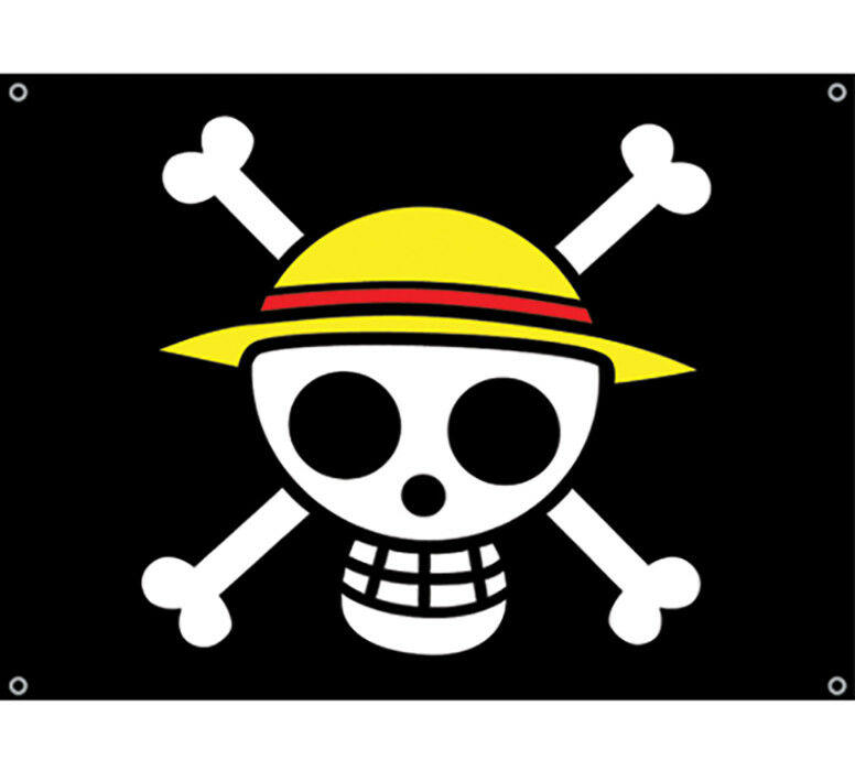 "One Piece Anime Luffy Straw Hat Pirates Flag New Official Licensed 31.5"" x 43"""