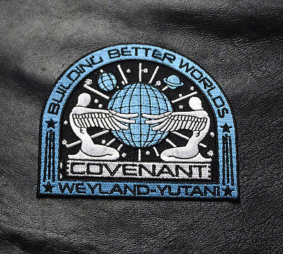 Alien Movie Prometheus Covenant Weyland Corp Crew Uniform Cosplay Iron On Patch