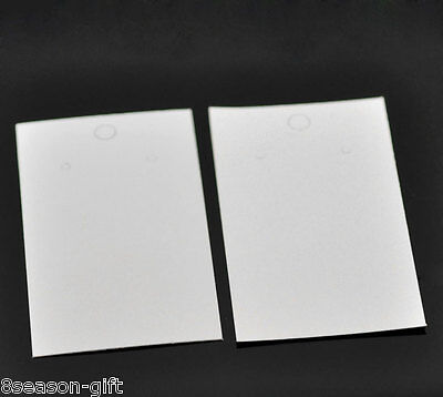 100pcs White Earrings Jewelery Display Cards 9x5cm3 48x2