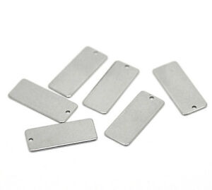 Stainless Steel Metal Blank Stamping Engraving Tags Jewellery Making Pendants 5