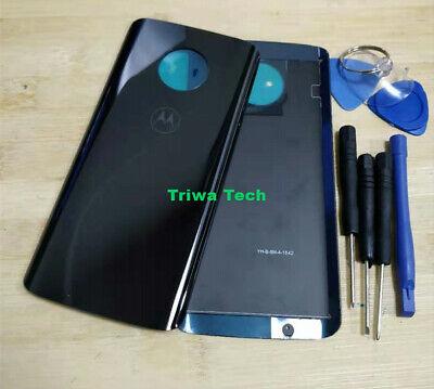 Black Xt Door (Genuine Motorola Moto G6 XT1925 Glass Battery Back Cover Door Panel)