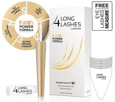 NEW! Long 4 Lashes FX5 POWER FORMULA Eyelash GROWTH Enhnacing Serum 3ml